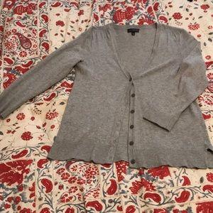 Light gray, 3/4 length sleeve cardigan
